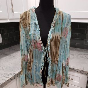 One World Sheer Cover-Up Top (Size Medium)